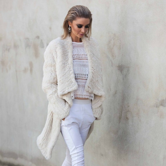 Promenade Fur Jacket in Pearl