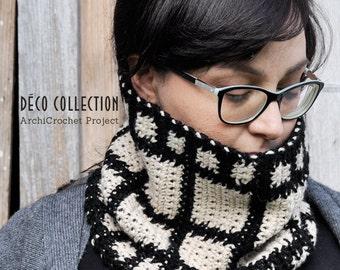 Cowl scarf snood, hooked neck warmer, handmade snood, italian scarf, chunky scarf