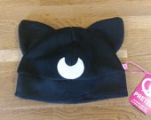 Cute moon cat fleece cosplay hat inspired by Sailormoon Luna and Artemis