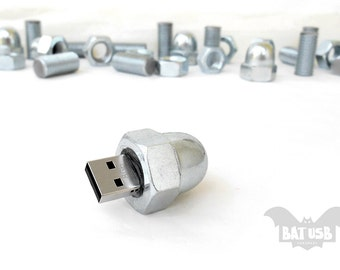 USB flash drive Nut 8GB - Memory Stick Inox Nut - Silver usb - Metal usb from bolt - Nut screw usb - Gift for him - Cool usb gift