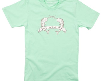 Narwhal Solidarity Tee - Men's Made in USA Cotton Tshirt