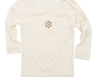 Ships Wheel Lace Back Top