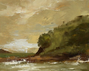 Oil Painting  6.3x6.3 in - ORIGINAL - Landscape - Painting by Bruno Monteiro Carlos