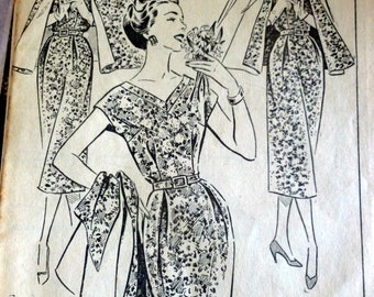 Caped dress pattern, march 1957