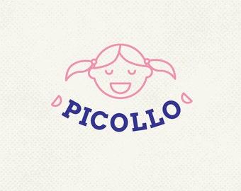 Uno de un logo bueno, marca niños, insignia de los cabritos, insignia de los niños, Pre hecho logo, diseño de identidad, profesionales de marca, insignia de Ooak