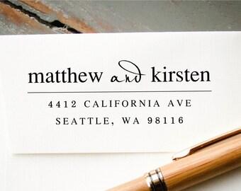 Self-Inking Address Stamp, Custom Return Address Stamp, Custom Rubber Stamp, Engagement Gift, Housewarming Gift, Personalized Stamp