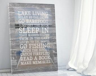 Lake Rules | Lake Rules Sign | Lake House Rules Decor Print | Cabin Rules Sign | Beach Rules Sign | Subway Sign | Lake Sign |