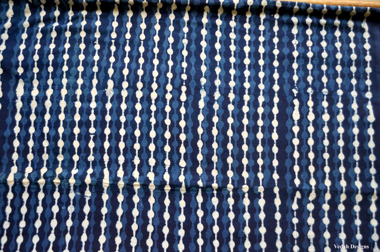 Indigo Fabric Indigo Mudcloth Block Print Fabric By The Yard