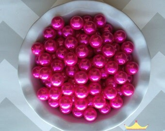 20mm Posh Pink *Best Seller Chunky Beads Pearls