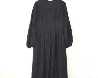 Vintage cocktail dress / 70s black party dress / RICHIENE dress
