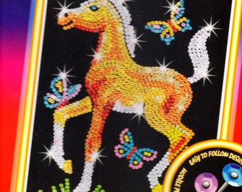 Foal SEQUIN ART Craft KIT, Brand New For Age 6 plus