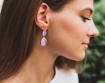 Blush Pink Earrings, Bridesmaid Earrings, Pink Earrings, Bridesmaid Gift, Light Pink Earrings, Bridal Jewelry, Wedding Earrings, Pink Bridal