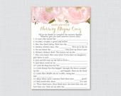 Floral Nursery Rhyme Quiz...