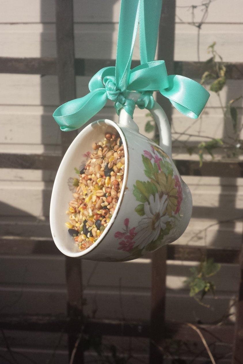 Teacup Bird Feeder Vintage Bird Feeder Gardener's Gift