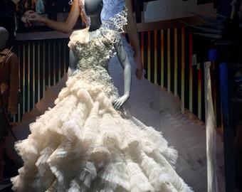Custom Made Katniss Everdeen Wedding dress Hunger Games catching fire Mockingjay