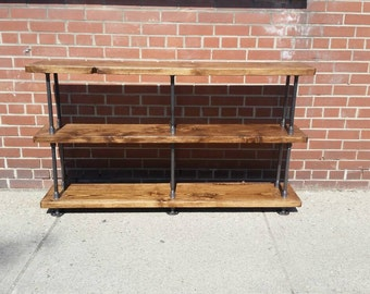 Wood And Pipe Console Table Rustic Console Table
