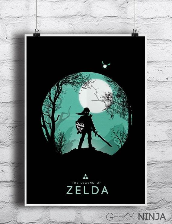 Legend Of Zelda Minimalist Poster - Zelda Minimalist Print