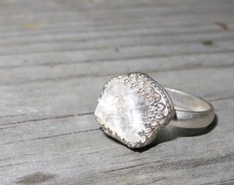 Apophyllite Silver Ring