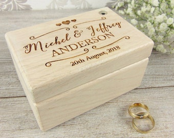 Wedding ring box Etsy