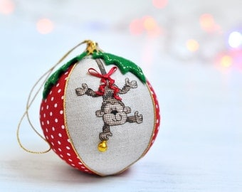 Personalized Baby's First Christmas Ornament. Monkey Christmas Ornament. Baby's First Christmas Bauble. Baby's First Christmas Gift Ideas