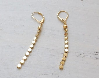 gold earrings,long gold earrings,gold earrings dangle,gold filled earrings,dangle earrings,gold drop earrings,minimalist jewelry