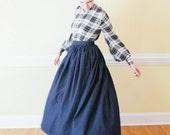 SALE Long Denim Skirt - gathered denim skirt Made to Measure Modest Skir Mennonite all sizes available skirt Mennonite skirt modest long ski