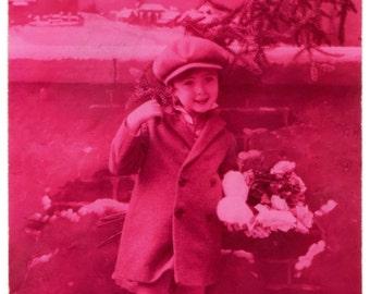 """Belgian vintage postcard """"Bonne Année"""""""", 1931"""