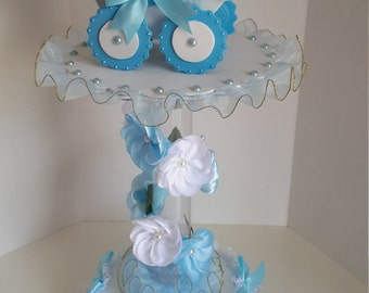 Baby boy centerpiece for baby shower