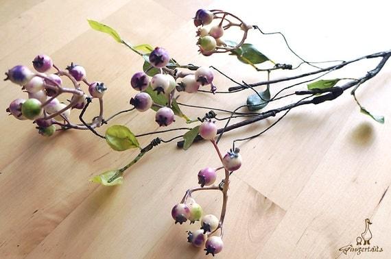 Rustikale lila und weißen Beeren künstliche von Gingertails