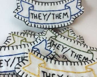 They/Them Pronoun Patch or Pin