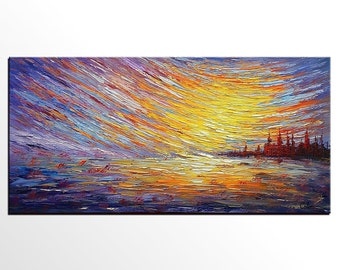 Large Art, Oil Painting, Canvas Art, Abstract Painting, Original Art, Abstract Art, Landscape Painting, Canvas Painting, Large Wall Art