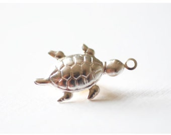 Sterling Silver Turtle Charm, Silver Turtle Charm, Sterling Silver Charms, Silver Sea Turtle