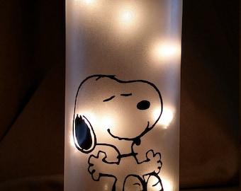 Snoopy Peanuts Light/Nightlight/Lamp/Wine