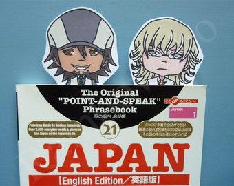 """Tiger & Bunny"" bookmarks: Kotetsu and Barnaby"
