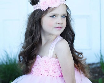Light Pink Flower Headband - Baby Girl Headbands - Flower Headband - Lace Headband - Flower Girl Headband - Hair Accessory - Baby Gift