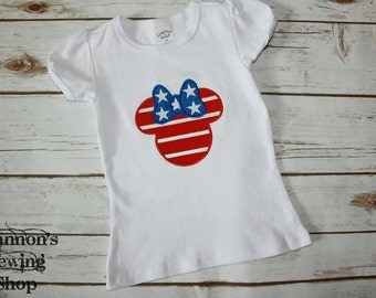 4th of July Mouse Shirt, Fourth of July Minnie Shirt, Patriotic Mouse Shirt