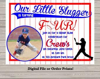 Baseball Invitation With Photo!