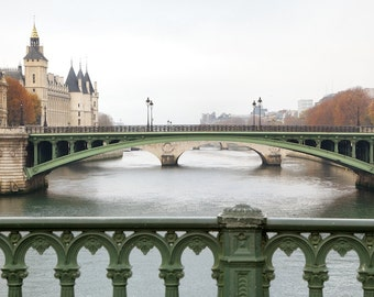 Paris photography, Seine view, Paris autumn, fall, Paris bridges, French wall art, Paris decor, home decor, fine art print