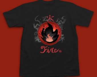 Pokemon Fire T-Shirt - Pokemon Shirt - Pokemon TShirt - Pokemon Fire Type - Fire Type Pokemon - Pokemon Elements - Pokemon Gift - Pokemon