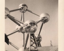 1958 Expo Brussels World's Fair Original Vintage Lot of 3 Real RARE Photographies of The Atomium, Avant-Garde Architecture from Belgium