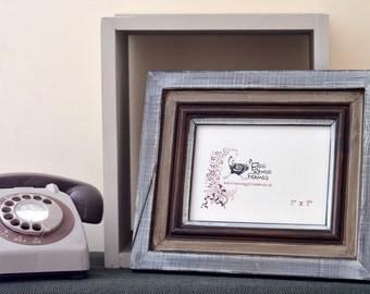 Reclaimed wood photo frame: 'Chocolate Fudge' (small)