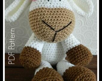 Crochet Girl Sheep Stuffed Toy Pattern {PDF PATTERN ONLY}