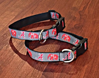 Alabama Houndstooth + Elephants Collar