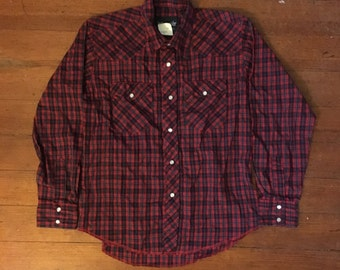 Wrangler Red Western Shirt Size Women's XS/S