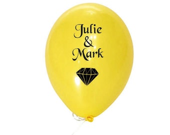 Custom wedding balloon, love balloons, yellow balloon, date balloon, personalized balloon, latex balloon, party balloon, bespoke balloon