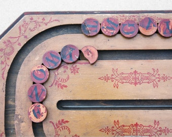 antique spelling board - spelling game, victorian, wooden, antique game, learning, teaching tool, children