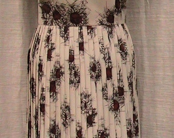 Vintage R&K Originals heavily Pleated Dress