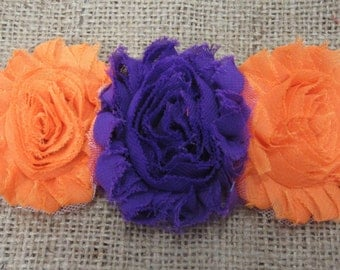 Halloween Orange and Purple Chevron Headband, Fall Headband, Trick or Treat Headband