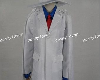 Detective Conan Kid the Phantom Thief Magic Kaito Cosplay Costume