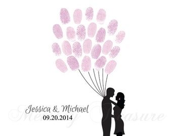Wedding Thumb print Guest book Wedding Fingerprint Guest book Tree Guest book Finger print Tree Wedding Thumb print Guest book Wedding